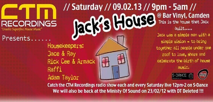 ctm recordings jacks house